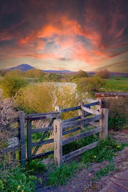 Gateway to the Wrekin at sunset
