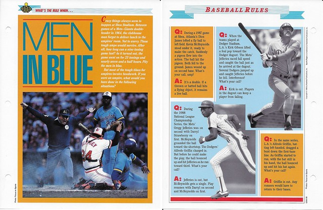 1989-91 Newfield Sports Pages - Whats the Rule When - Strawberry, Darryl - Gibson, Kirk