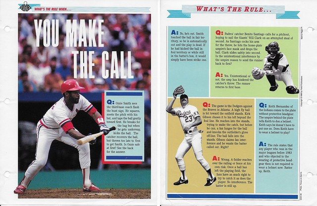 1989-91 Newfield Sports Pages - Whats the Rule When - Smith, Ozzie - Gibson, Kirk