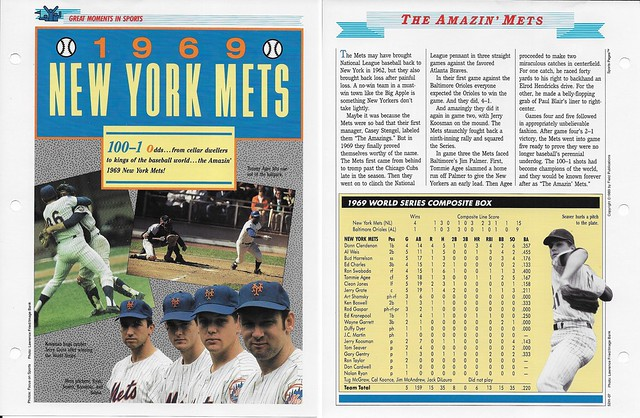 1989-91 Newfield Sports Pages - Great Moments in Sports - Nolan Ryan - Seaver - Koosman