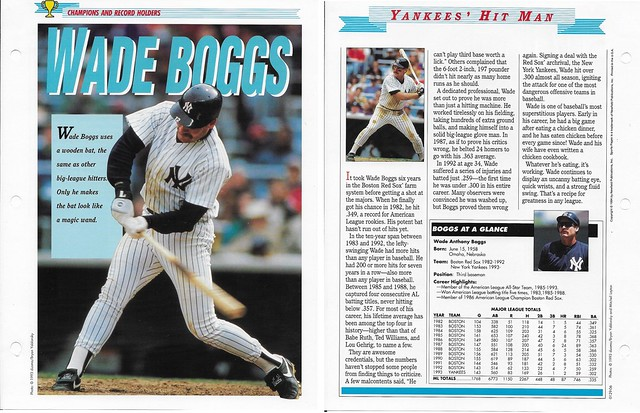 1995 Newfield Sports Pages - Champions and Record Holders - Boggs, Wade