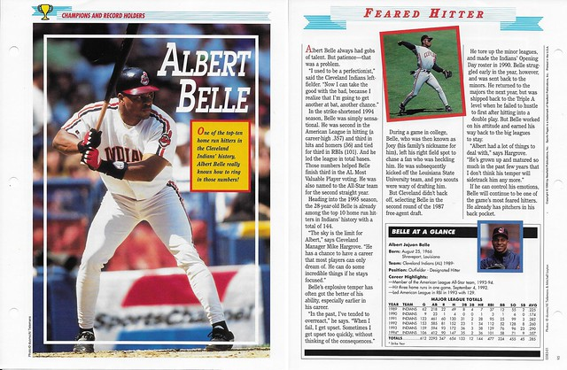 1995 Newfield Sports Pages - Champions and Record Holders - Belle, Albert
