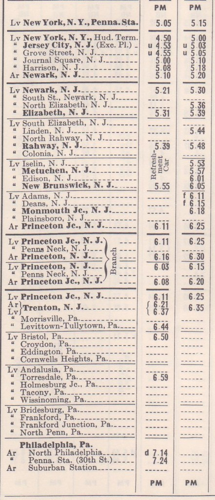 PRR 1958 NY Philadelphia