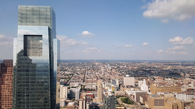 Comcast Center as seen from One Liberty Place Observation Deck in Philadelphia, PA