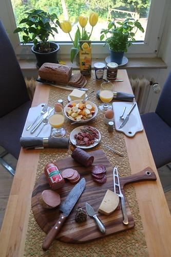 Frühstück am Morgen des Vatertages
