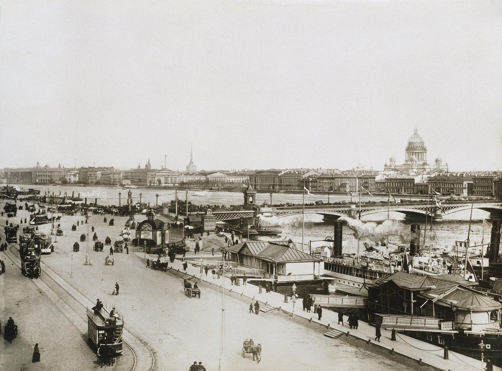 1900-е. Николаевская набережная у Благовещенского моста