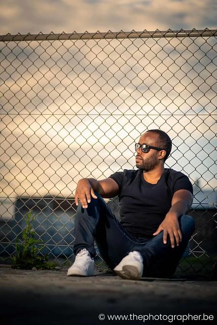Urban fotoreportage van een bekende DJ