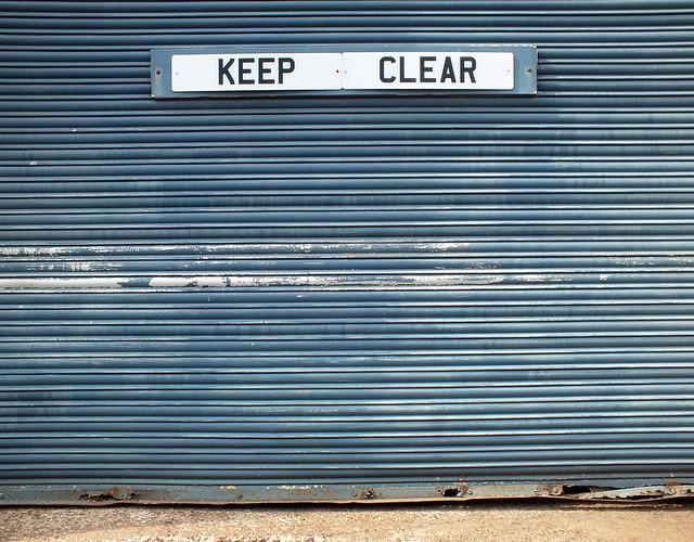 Keep Clear Blue Door