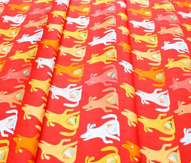 Art Gallery Fabrics Oh, Woof! Happy Howl