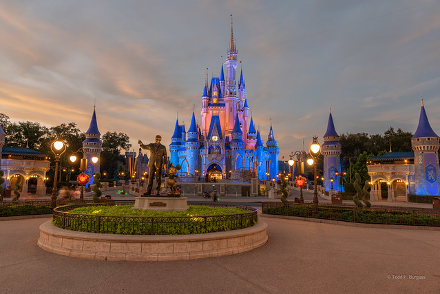 Sunset at Cinderella's Castle