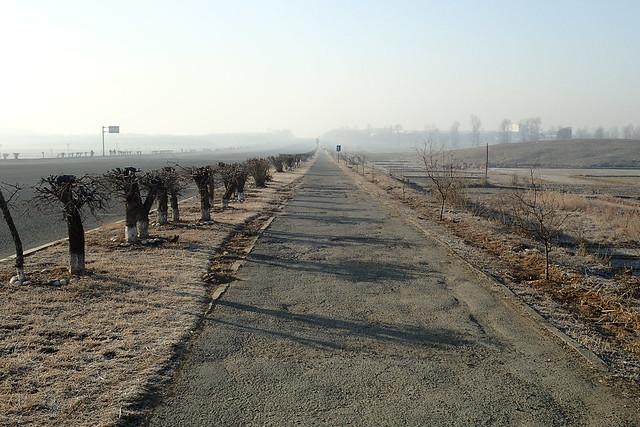 piste cyclable nord-coréenne