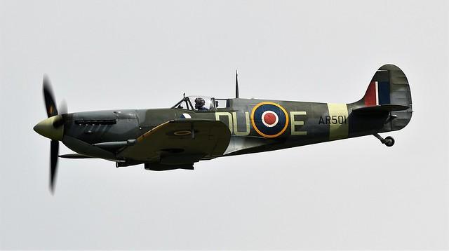 RAF Supermarine Spitfire LF Mk-VC AR501 G-AWII  DU-E