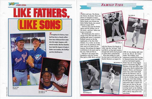 1989-91 Newfield Sports Pages - Sports Extras - Griffey Jr, Ken