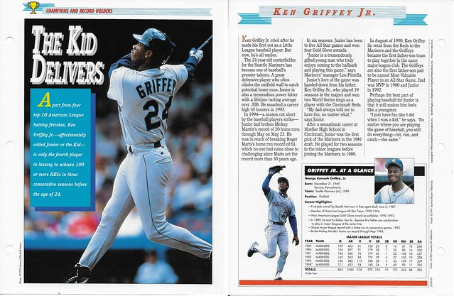 1994 Newfield Sports Pages - Champions and Record Holders - Griffey Jr, Ken