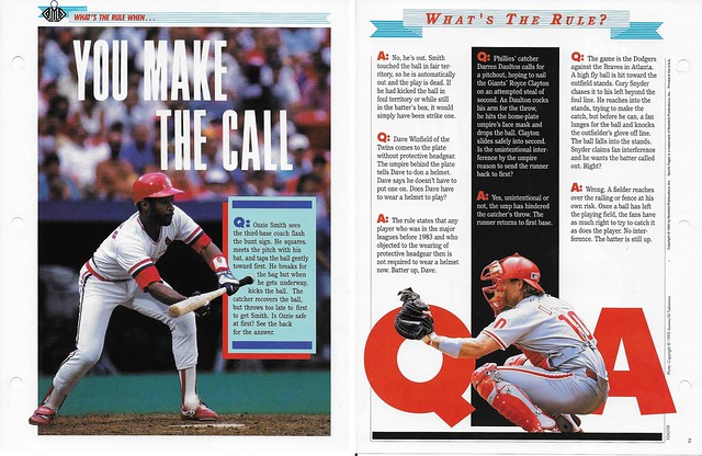 1994 Newfield Sports Pages - Whats the Rule When - Smith, Ozzie - Daulton, Darren