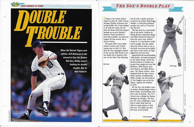 1994 Newfield Sports Pages - Great Moments in Sports - Boggs-Burks