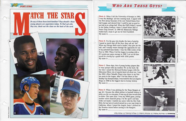 1989-91 Newfield Sports Pages - Sports Extras - Herschel-Jordan-Gretzky-Ryan