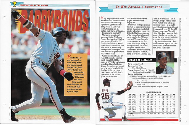 1996 Newfield Sports Pages - Champions and Record Holders - Bonds, Barry