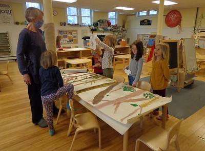 gluing animals in the understory