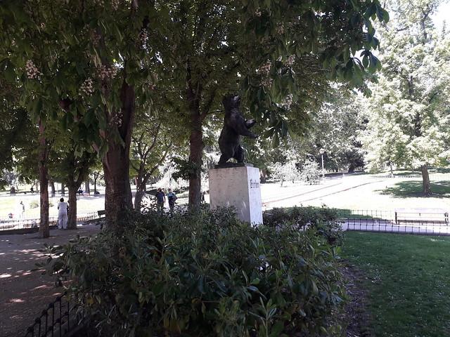 A bear in the shade,   Parque  de Berlin, Ciudad Jardin, Madrid