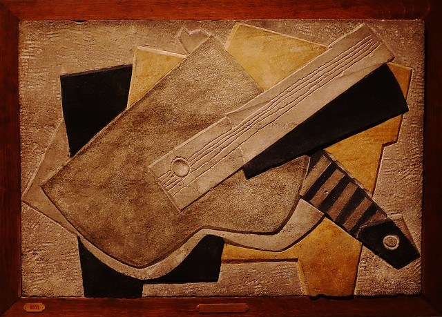 Henri Laurens (1885-1954) - Musical Instruments on a Table (1919) - Painted stone -  SMK (Statens Museum for Kunst) - Copenhagen