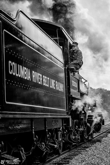Grabbed this shot of our engineer on the Columbia River Belt Line Railway Skookum 7, 5/1/21.