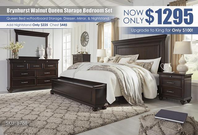 Brynhurst Walnut Queen Storage Bedroom Set_B788-31-36-46-58-56S-97-93_May_2021