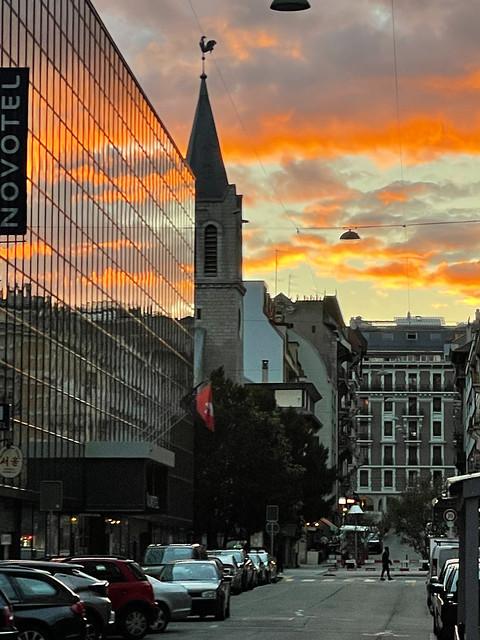 Sonnenuntergang in Genève