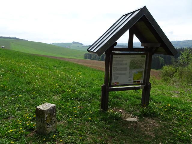 Grenzstein 593 ist der nördlichste Grenzstein der Schweiz