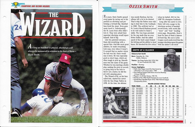 1994 Newfield Sports Pages - Champions and Record Holders - Smith, Ozzie