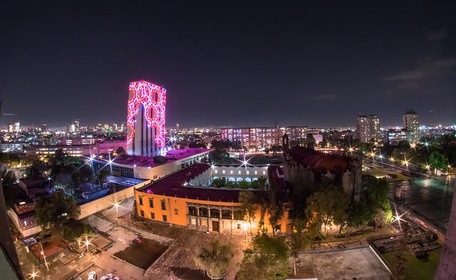 Tlatelolco at night
