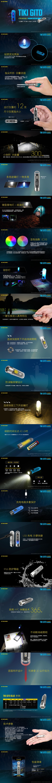 NITECORE 台灣總代理 錸特光電】NITECORE TIKI GITD 夜光鑰匙燈 300流明 UV 紫外光 CRI 驗鈔燈  迷你可充電LED手電筒 (2)