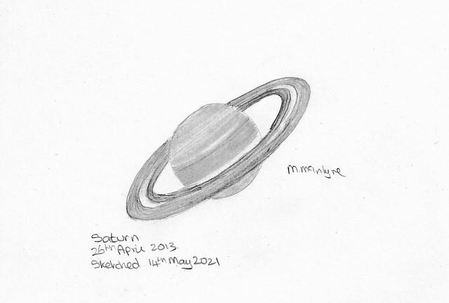 Saturn Pencil Sketch