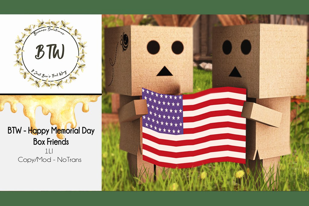 BTW – Happy Memorial Day Box Friends