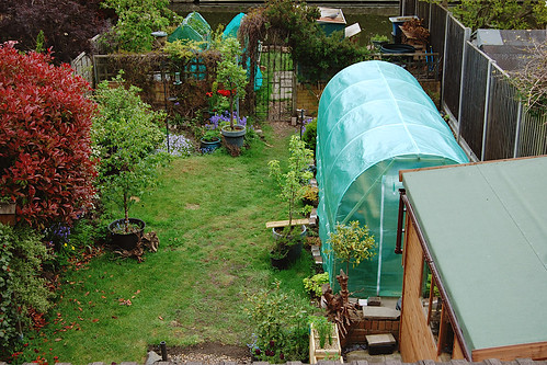 Looking Down on the Back Garden - May 2021