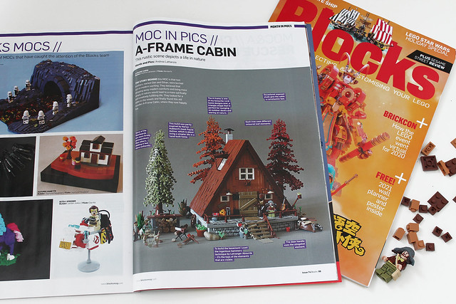 Blocks magazine features the A-FrAme Cabin