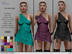 $75L NEW!!! *P* Tana Mesh Dress ~20 Silks DEMO HUD~