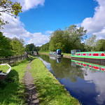 12th May 2021. Aqueduct on the Bridgewater Canal at Hawthorn Lane, Stretford, Manchester.