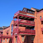 Apartments at a converted warehouse in Preston Docks