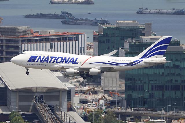 N702CA, Boeing 747-400BCF, National Airlines, Hong Kong