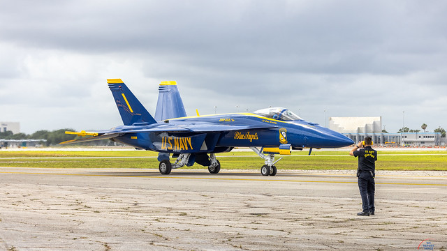 US Navy Blue Angles Arrive in Melbourne, FL