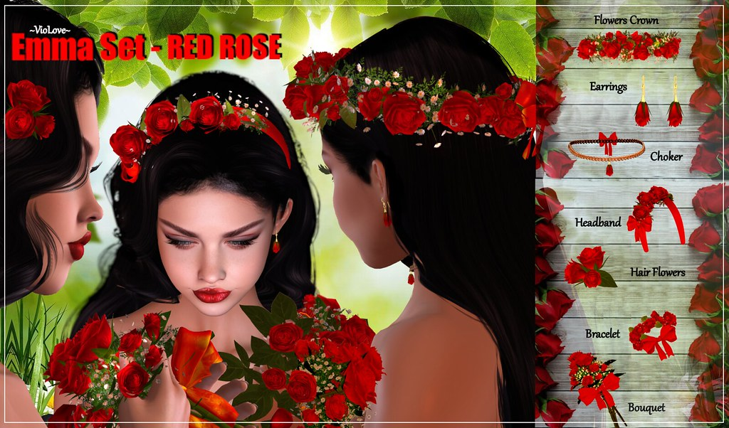 ~VioLove~ Emma Set – Red Rose