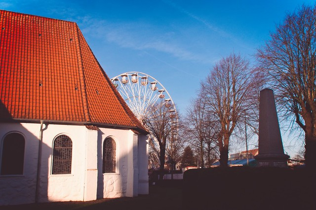 Church with Ferris Wheel | December 19, 2019 | Schleswig-Holstein - Germany