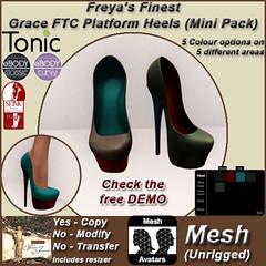 FFJ FTC Grace Platform Heel Shoes (Mini Pack) TEX
