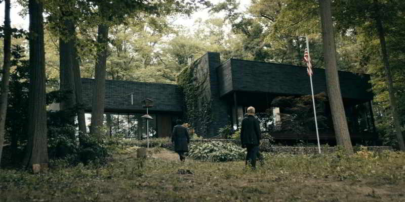 Black glass cabin