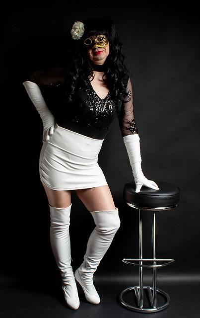 White Leather Skirt 41