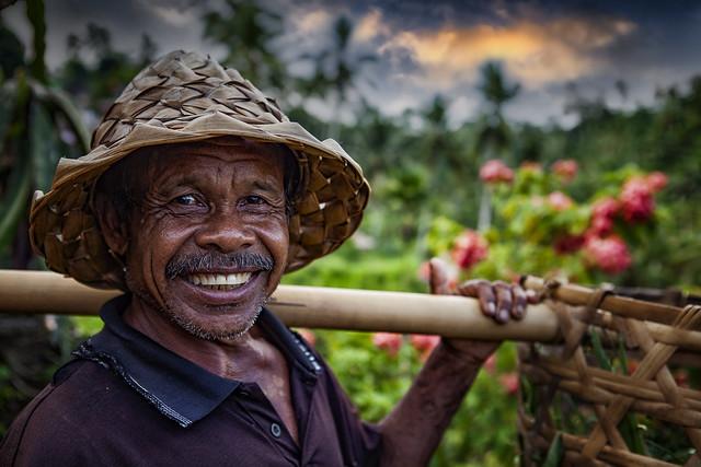 Portrait Of A Balinese Rice Farmer