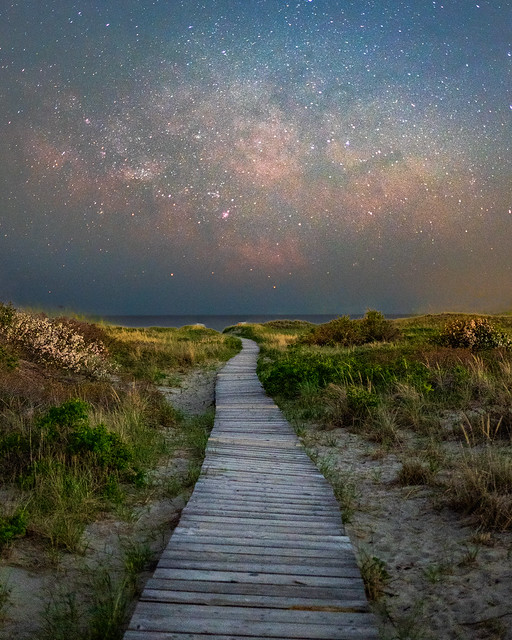 Milky Way over Good Harbor Beach