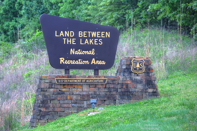 Land Between the Lakes National Recreation Area sign - Grand Rivers, Kentucky