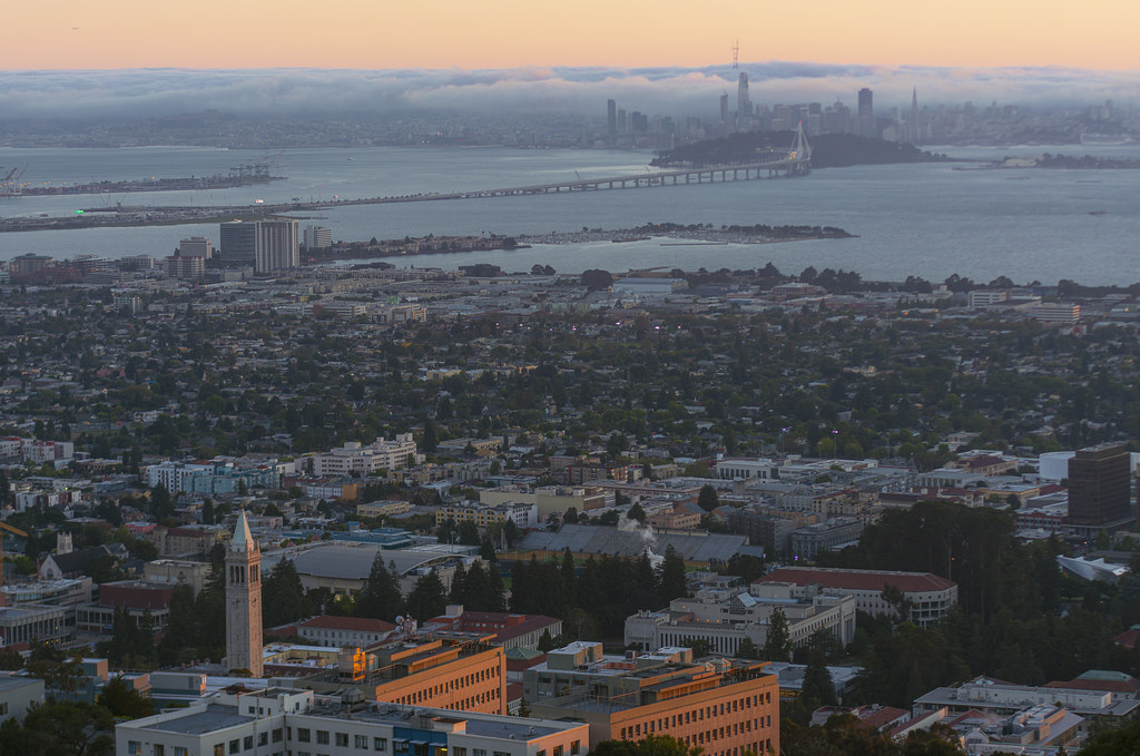 Sather Tower and San Francisco